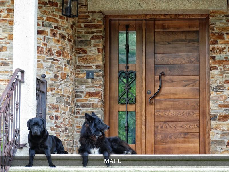 Carpinter a la art stica puertas de exterior for Puerta acristalada exterior